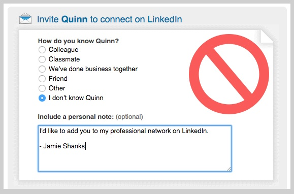 Bad Linkedin Connection